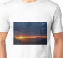 Sunset in Assisi next to Basilica of St. Francis Unisex T-Shirt