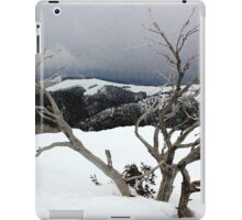 A snowstorm on a mountainside in Australia iPad Case/Skin