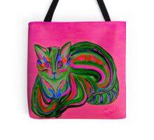 Pink - Hypno Rainbow Cat Tote Bag