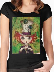 Lady Hatter Women's Fitted Scoop T-Shirt