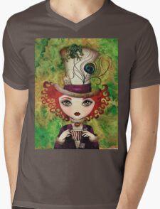 Lady Hatter Mens V-Neck T-Shirt