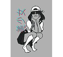 girl- [update w/ bandaid] Photographic Print