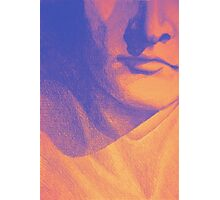 Colorful detail drawing of man face Photographic Print