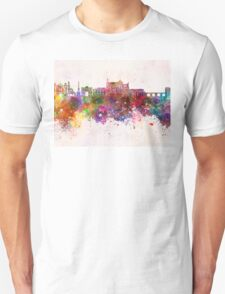 Cordoba skyline in watercolor background  Unisex T-Shirt