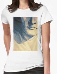 Colorful detail drawing of man face Womens Fitted T-Shirt