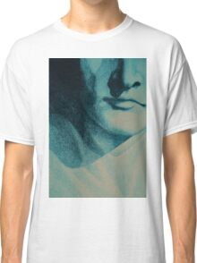 Colorful detail drawing of man face Classic T-Shirt