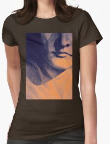 Detail drawing of man face Womens Fitted T-Shirt
