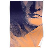 Detail drawing of man face Poster