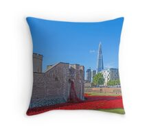Poppies in the Moat Throw Pillow