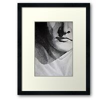 Detail drawing of man face Framed Print