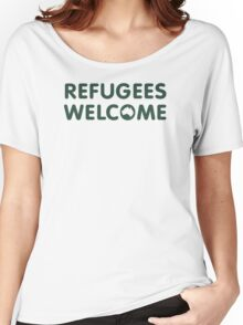 Refugees Welcome Australia (Green) Women's Relaxed Fit T-Shirt