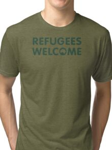 Refugees Welcome Australia (Green) Tri-blend T-Shirt