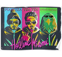 Mr Pianitza , hotline Miami , gotta get a grip  Poster
