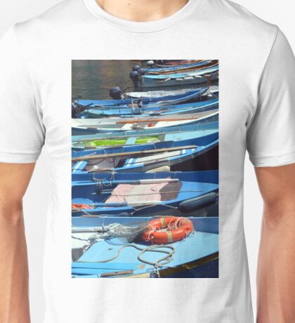Boats in the water in Vernazza Unisex T-Shirt