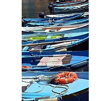 Boats in the water in Vernazza Photographic Print