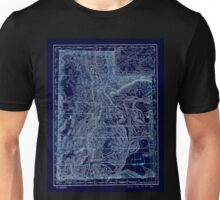 0174 Railroad Maps Indexed map of Utah with a new and original compilation and Inverted Unisex T-Shirt
