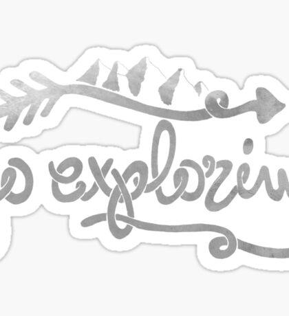 GO EXPLORING Sticker