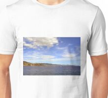 The beautiful landscape from Portofino with the blue sea and cloudy sky Unisex T-Shirt
