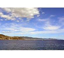 The beautiful landscape from Portofino with the blue sea and cloudy sky Photographic Print