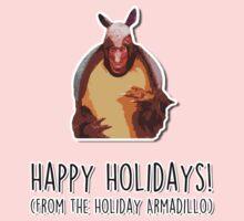 Happy Holidays from the Holiday Armadillo One Piece - Short Sleeve