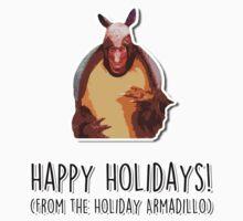Happy Holidays from the Holiday Armadillo Baby Tee