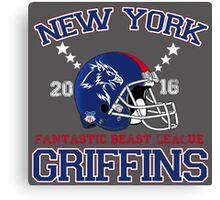 New York Griffins (helmet) Canvas Print