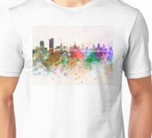 Phnom Penh skyline in watercolor background Unisex T-Shirt