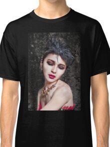Beautiful woman with asian make-up Classic T-Shirt