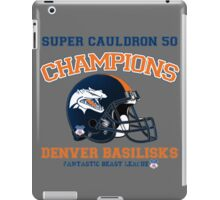 Super Cauldron 50 Denver Basilisks iPad Case/Skin