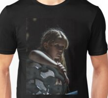 girl siting on chair  Unisex T-Shirt
