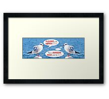 Philosophical Seagulls Variety is the Spice of Life Framed Print