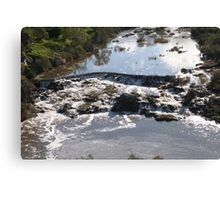 Tumbling Water Froth & Whirlpools, Barwon River, Geelong. Victoria. Canvas Print