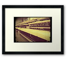 Athlete Inspiration Not Whether You Win or Lose 1 Framed Print