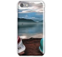 Hulls of Boats And Marmaris Winter Seascape iPhone Case/Skin