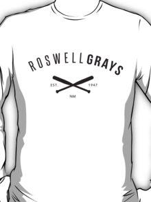 X Files: Roswell Grays Baseball T-Shirt