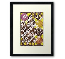 The Flower That Blooms In Adversity, Mulan Quote, Lettering, Flower And Leaf Doodle, Inspirational Framed Print
