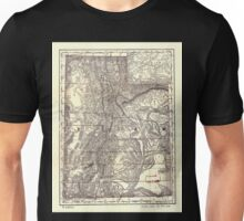 0174 Railroad Maps Indexed map of Utah with a new and original compilation and Unisex T-Shirt