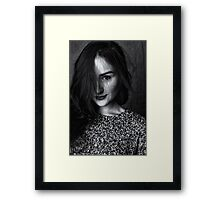beautiful female Framed Print