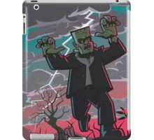 frankenstein creature in storm  iPad Case/Skin
