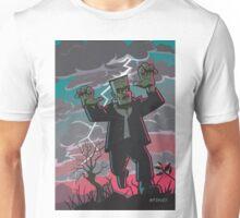 frankenstein creature in storm  Unisex T-Shirt