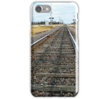 Tracks for a Downbound Train in Moorhead, MN iPhone Case/Skin