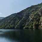 Steep Shores and Green Summer Light - a Mountain Lake Impression by Georgia Mizuleva