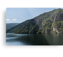 Steep Shores and Green Summer Light - a Mountain Lake Impression Metal Print