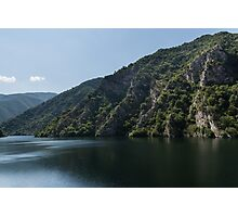 Steep Shores and Green Summer Light - a Mountain Lake Impression Photographic Print
