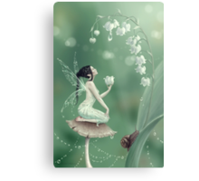 Lily of the Valley Flower Fairy Metal Print