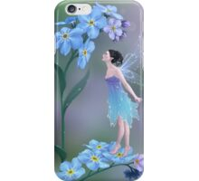 Forget-Me-Not Flower Fairy iPhone Case/Skin