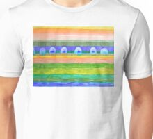 Blue Trees within Striped Landscape Unisex T-Shirt