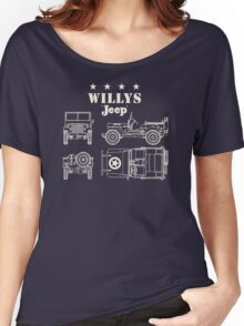 Willis Jeep Women's Relaxed Fit T-Shirt