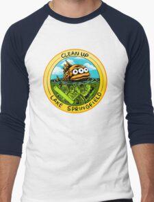 Clean Up Lake Springfield! Men's Baseball ¾ T-Shirt
