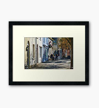 Street Scene In Bridport Dorset, UK Framed Print